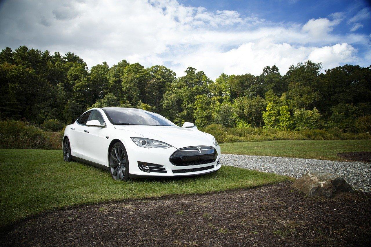 car, electric, tesla